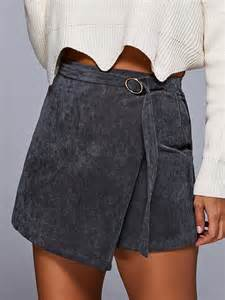a line corduroy skirt gray skirts zaful