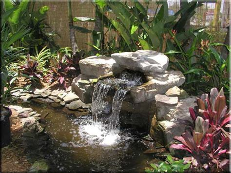 pond rock waterfalls outdoor furniture design and ideas
