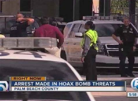 Arrest Records In Palm County Arrest Made In Palm County Hoax Bomb One News Page