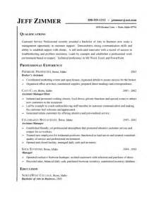 customer service resume exle business assistant host