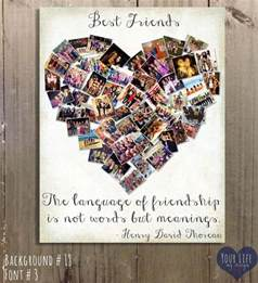gift for best friends personalized gift photo collage