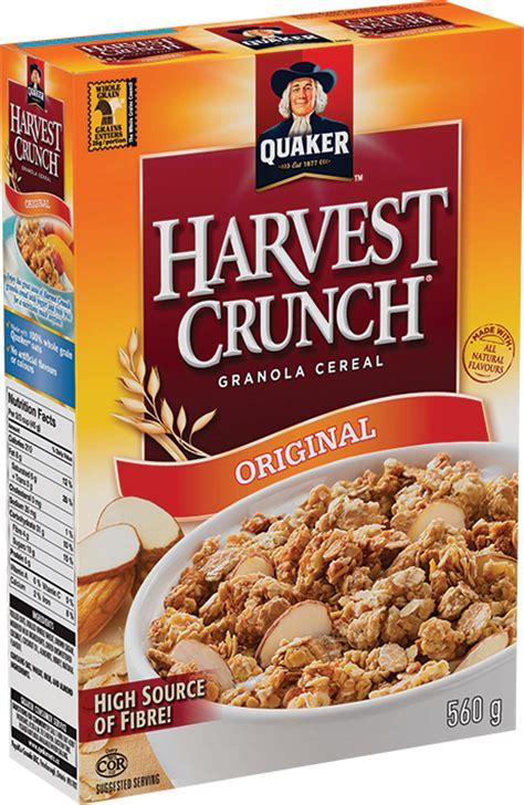 whole grain quaker oats nutrition facts quaker 174 harvest crunch 174 original cereal quakeroats ca