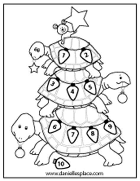 christmas turtle coloring page christmas crafts page 5