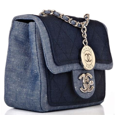 Chanel Quilted Bags by Chanel Quilted Denim Graphic Small Crossbody Flap Bag At