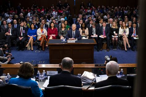 neil gorsuch new york times neil gorsuch faces the senate the new york times