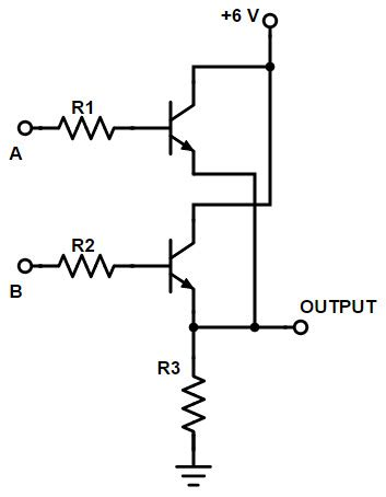 npn transistor or gate digital logic or gate