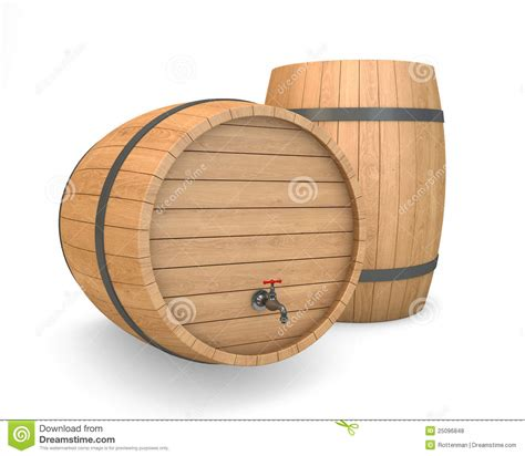 baril en bois avec le robinet photos libres de droits
