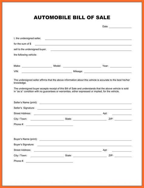 texas bill of sale form bill of sale auto
