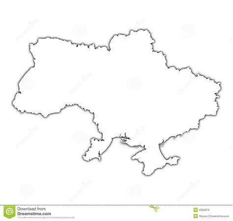 Ukraine Outline Map by Ukraine Outline Map Stock Images Image 4350874