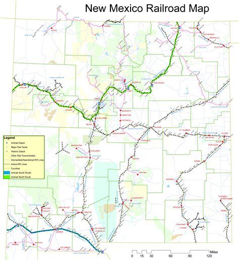 new mexico maps new mexico railroad map