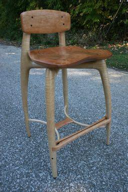 custom modern wood bar stool counter stool hand carved