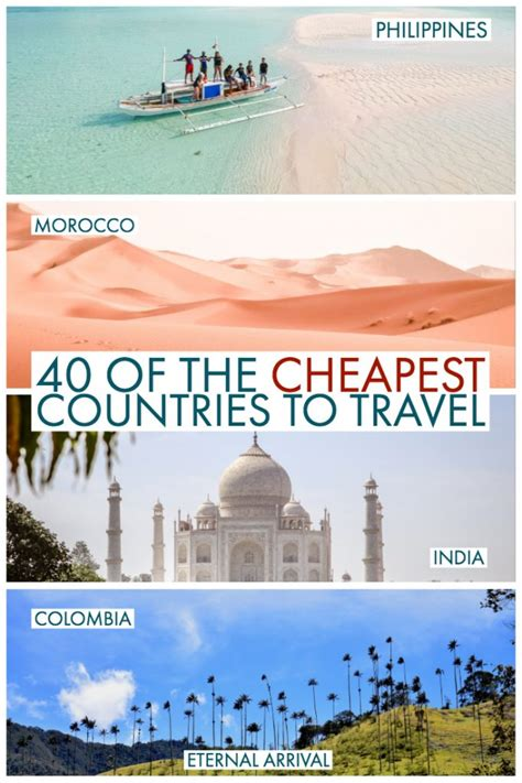 cheapest countries  visit    day