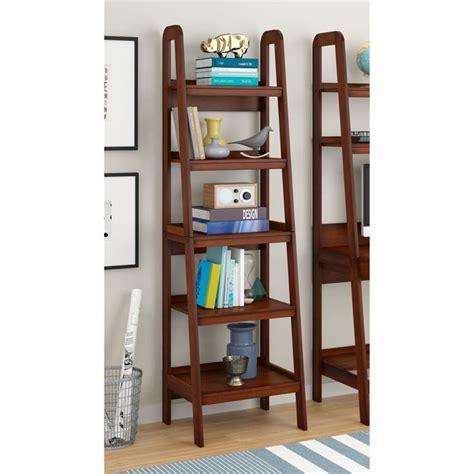 5 shelf ladder bookcase ladder 5 shelf bookcase in mahogany 9537096
