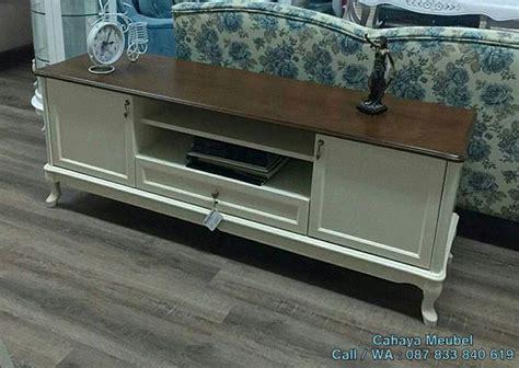 Meja Tv Putih meja tv putih minimalis cahaya mebel jepara