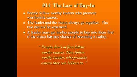 john c maxwell las 21 leyes irrefutables del liderazgo 21