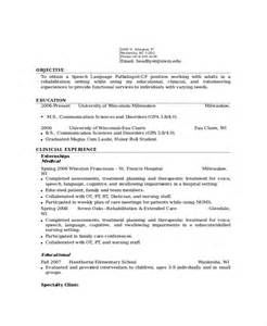 Assistant Speech Therapist Cover Letter by Pediatric Speech Therapy Resume Harmony Unit 822