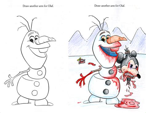 coloring book corruptions disney guest post olaf coloring book corruptions
