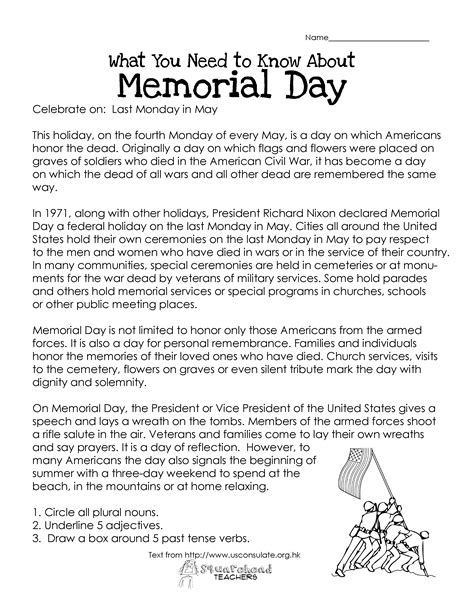 memorial day printable activity sheets memorial day free worksheet squarehead teachers