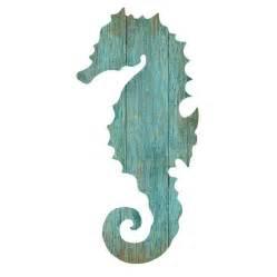Seahorse Wall Decor by Seahorse Silhouette Facing Left Wall Aqua