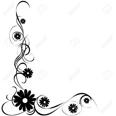 clipart fiori cornici fiori clipart