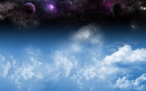earth atmosphere blue bright clouds wallpaper wallpaper space over atmosphere free desktop background