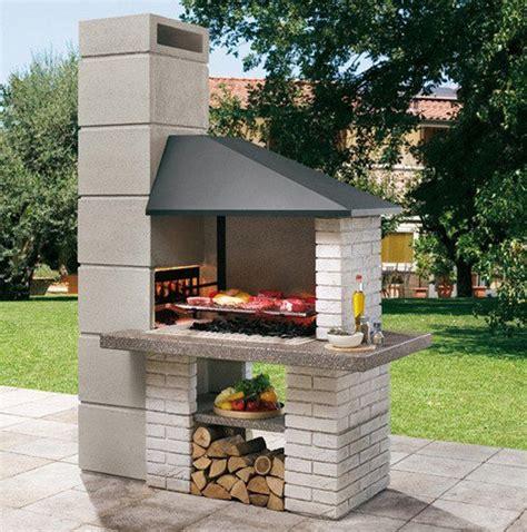 camini da esterno in muratura edilvetta barbecue professionale in muratura da giardino