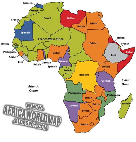 africa continent world map