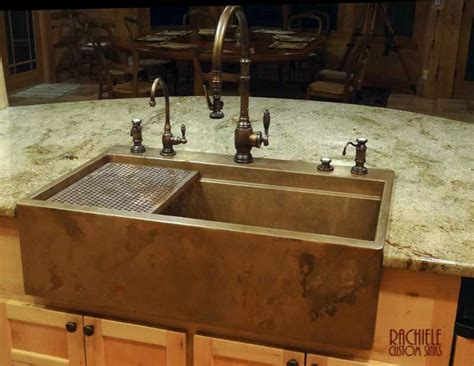 top mount farmhouse hundreds of photos of copper sinks installed in kitchens