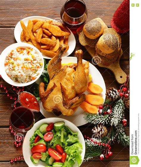 Traditional Food For Christmas Dinner Festive