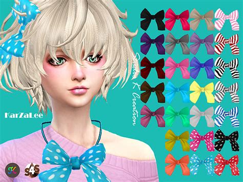 big bow hair accessory at jenni sims 187 sims 4 updates sims 4 cc hair bows hair bow sims 4 custom content sims