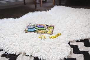 make a faux sheepskin rug honeybear