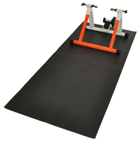 conquer exercise bike trainer equipment mat ebay
