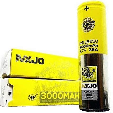 mxjo imr 18650 3000mah 35a 3 7v rechargeable battery