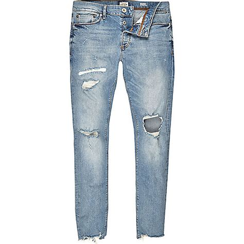 light wash ripped mens light blue wash ripped sid sale