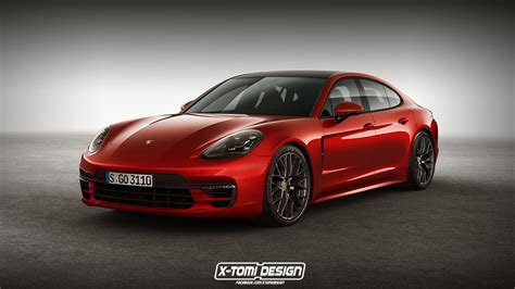 red porsche panamera 2018 porsche panamera gts rendering is red signals things