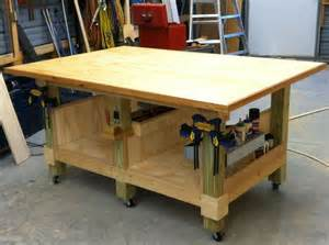 woodworking table my 4 x 6 ft woodworking assembly table six legs from 4 x