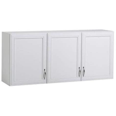 home depot white shelves akadahome 54 in w 3 shelf laminate wall cabinet in white