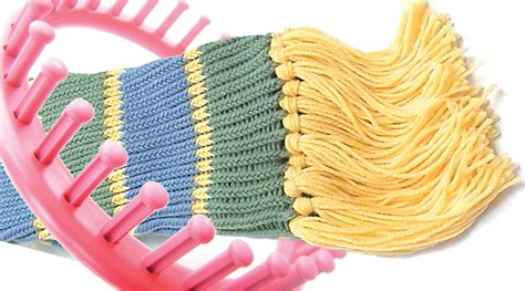 knitting loom how to make a scarf on a knitting loom crochet