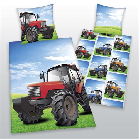 tractor bed linen tractor cotton single reversible 2 in 1 duvet cover set