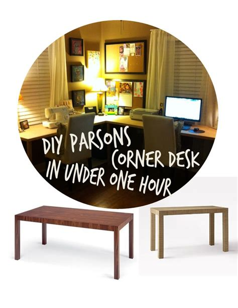 Diy Parsons Desk Diy Parsons Corner Desk In One Hour It S Easy To Make And Is Not Expensive At All