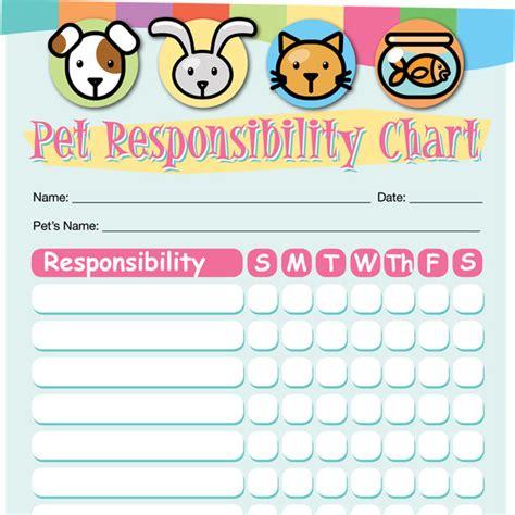 pet responsibility chart imom
