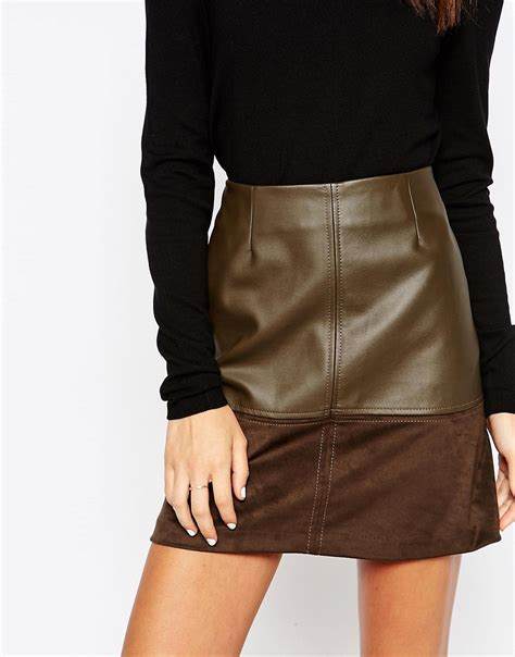 new look faux leather skirt redskirtz