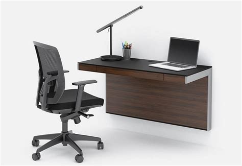 wall mounted desk for bdi made a wall mounted desk that can fit more than a