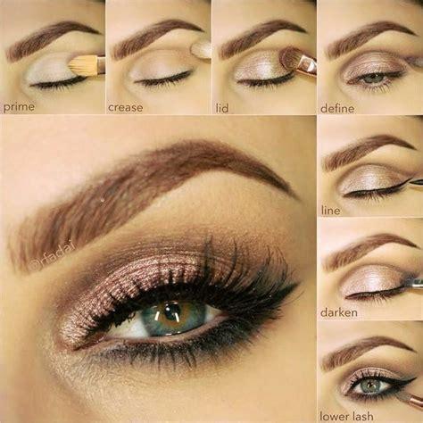 tutorial eyeshadow step by step neutral bronze makeup tutorial step by step guide