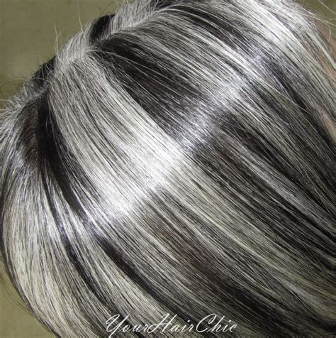silver white hair with brown lowlights gray hair with lowlights favorable hair pinterest