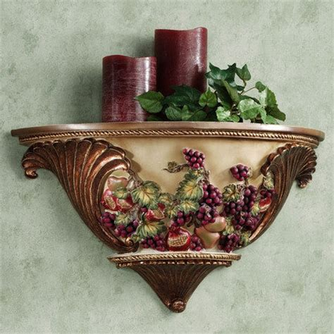 grape kitchen decor wall shelf tuscan decor for my kitchen pinterest