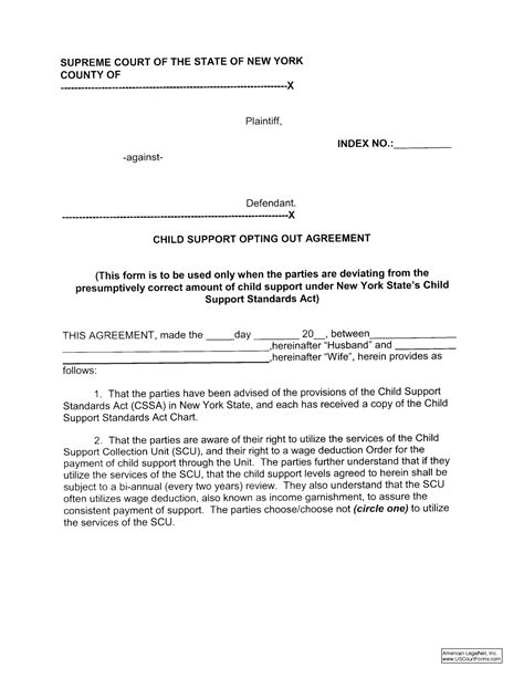 Notarized Divorce Letter Sle Letter Of Agreement To Pay Child Support Docoments Ojazlink