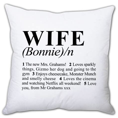 cusion meaning personalised wife cushion find me a gift