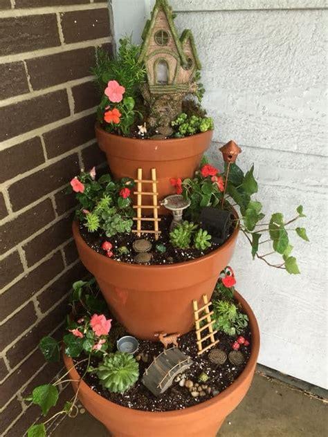 clay pot garden clay pot flower tower an easy diy the whoot