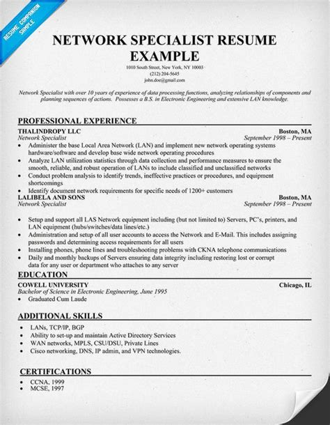 28 images of sle resume voice network enginer